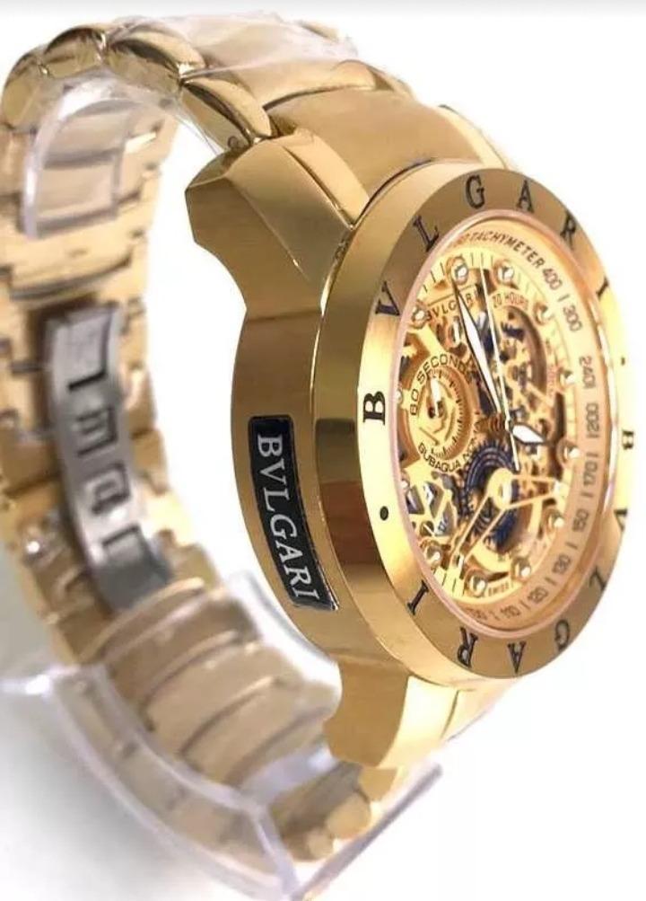 0350f0d0962 relógio bvlgari subaqua skeleton dourado prata liquidação!!! Carregando  zoom.
