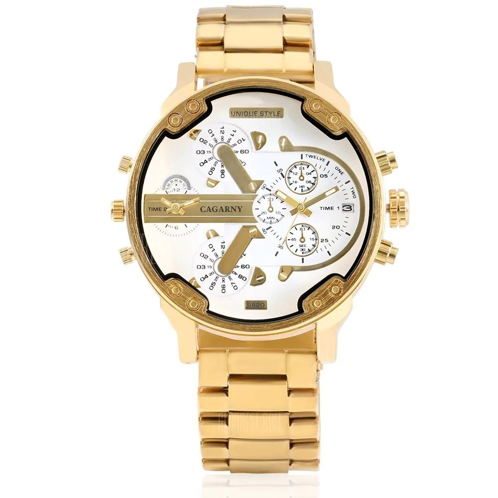 0c2fc0acd81 Relógio Cagarny 6820 - Dourado - R  160