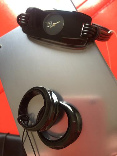 relógio calvin klein  + anel yoyo duplo pvd preto - novos!!!