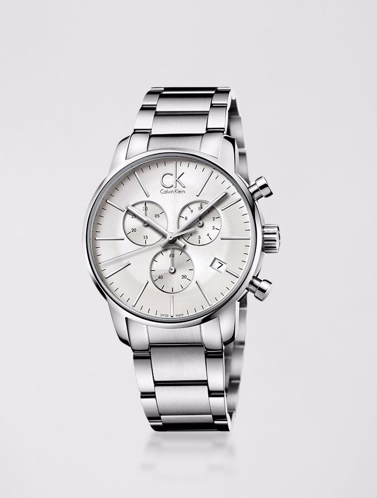 03acbaa63d3 Relógio Calvin Klein Pulseira De Aço Prata - R  2.500