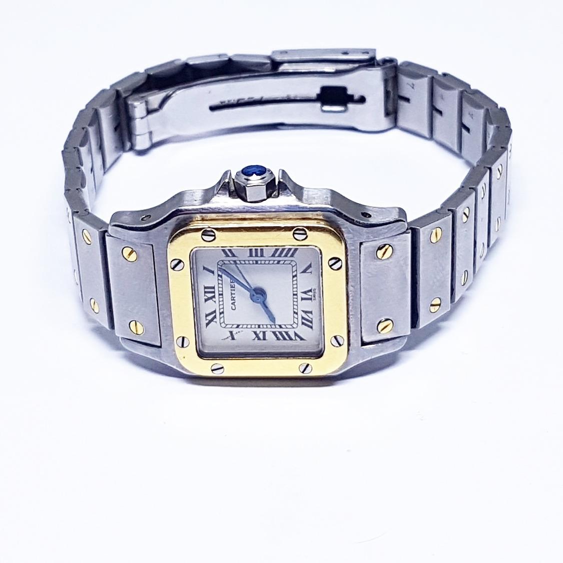 4008c7c3bbf relógio cartier feminino santos automático. Carregando zoom.