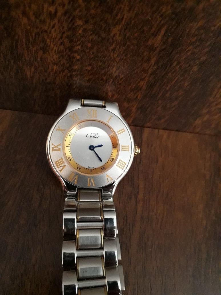 65fae128805 Relogio Cartier Must 21 - R  500