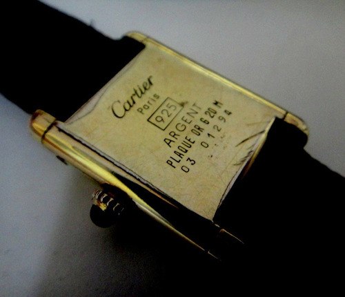 relógio cartier paris francezinho original prata
