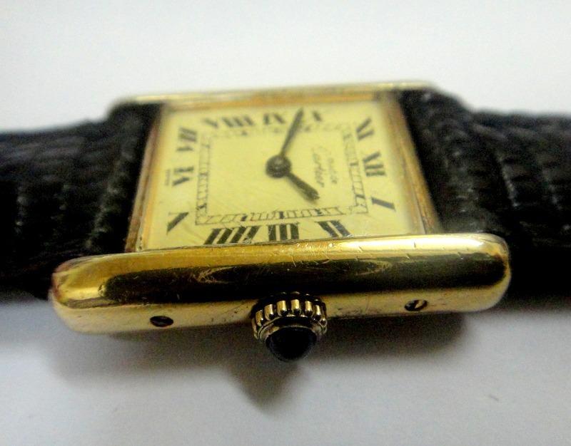 498cf730352 relógio cartier paris francezinho prata banhado a ouro. Carregando zoom.