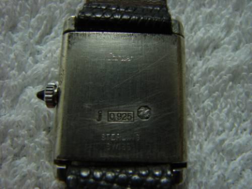 relógio cartier tank argent  925 vermeil, muito raro