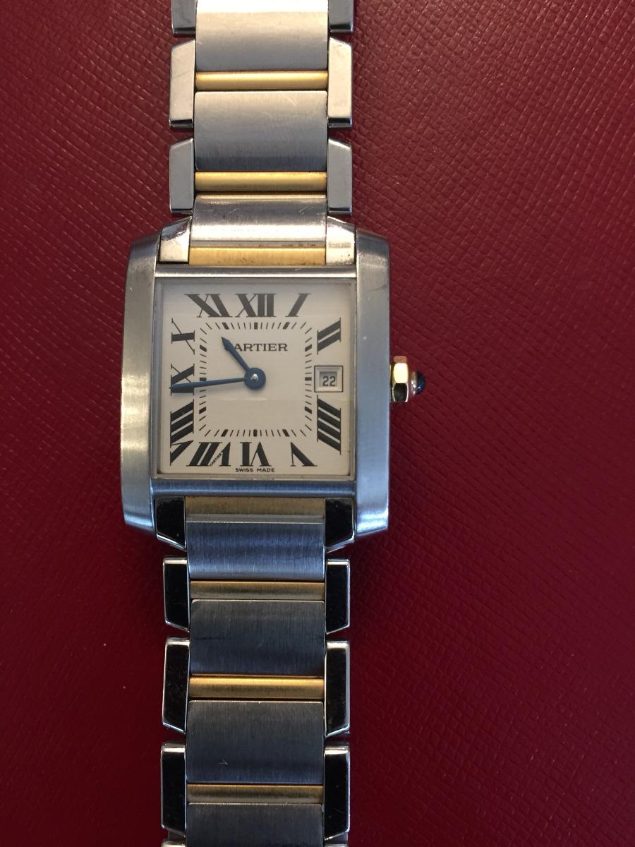 d806a87bb89 relógio cartier tank française médio em aço e ouro original. Carregando  zoom.