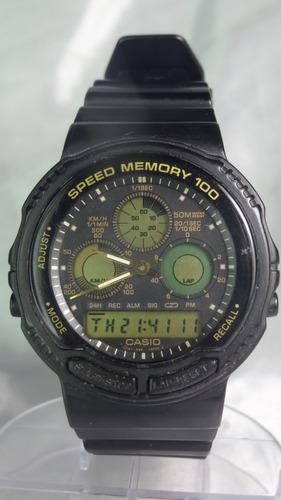 relógio casio a w - 20 384 100 speed memory relogiodovovô.