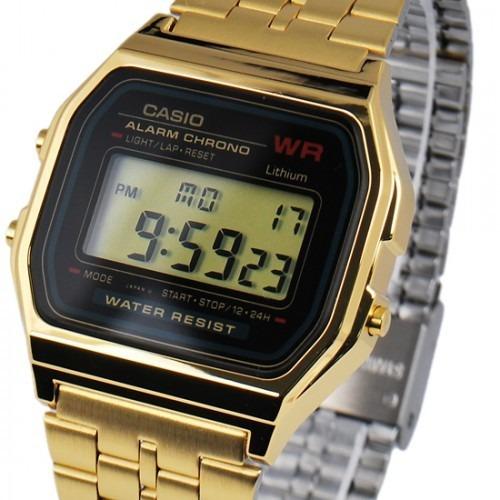 dae7ca91b3b Relógio Casio A159 Dourado Retro Vintage 100% Original - R  209