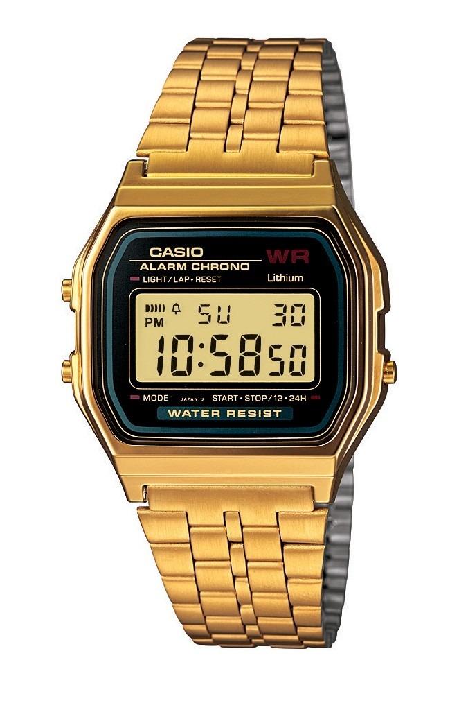 fb35e67454a relógio casio a159 dourado retro vintage 100% original. Carregando zoom.