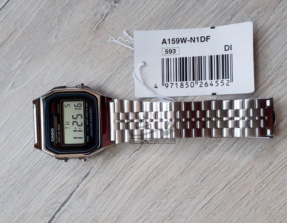 c62da385f89 relógio casio a159 prata unissex vintage a159wa-n1df digital. Carregando  zoom.