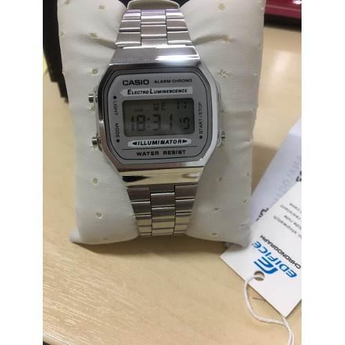 cd31e00c4da Relógio Casio A159 Todo Prata Retro Vintage + Caixa Manual - R  64 ...