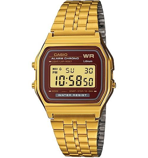 bd77c8b5c23 Relogio Casio A159 Wgea-5 Cronômetro Alarme Retro Vintage G - R  299 ...