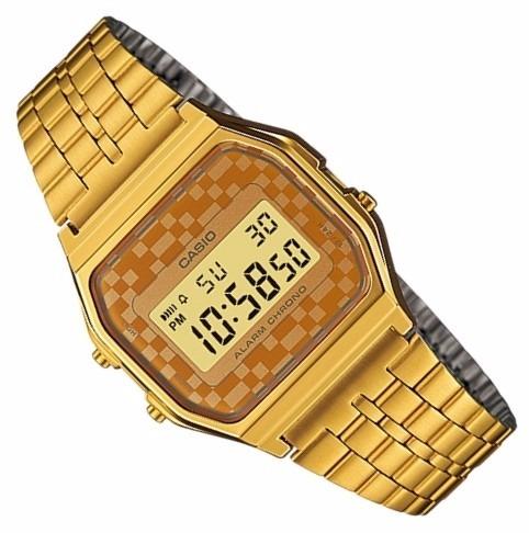 fc9f31cac32 Relogio Casio A159 Wgea-9 Cronômetro Alarme Retro Vintage Q - R  247 ...
