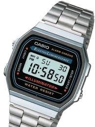 031ac9f2af3 Relógio Casio A168 Prata Unisex Retrô Vintage Original C  Cx - R ...
