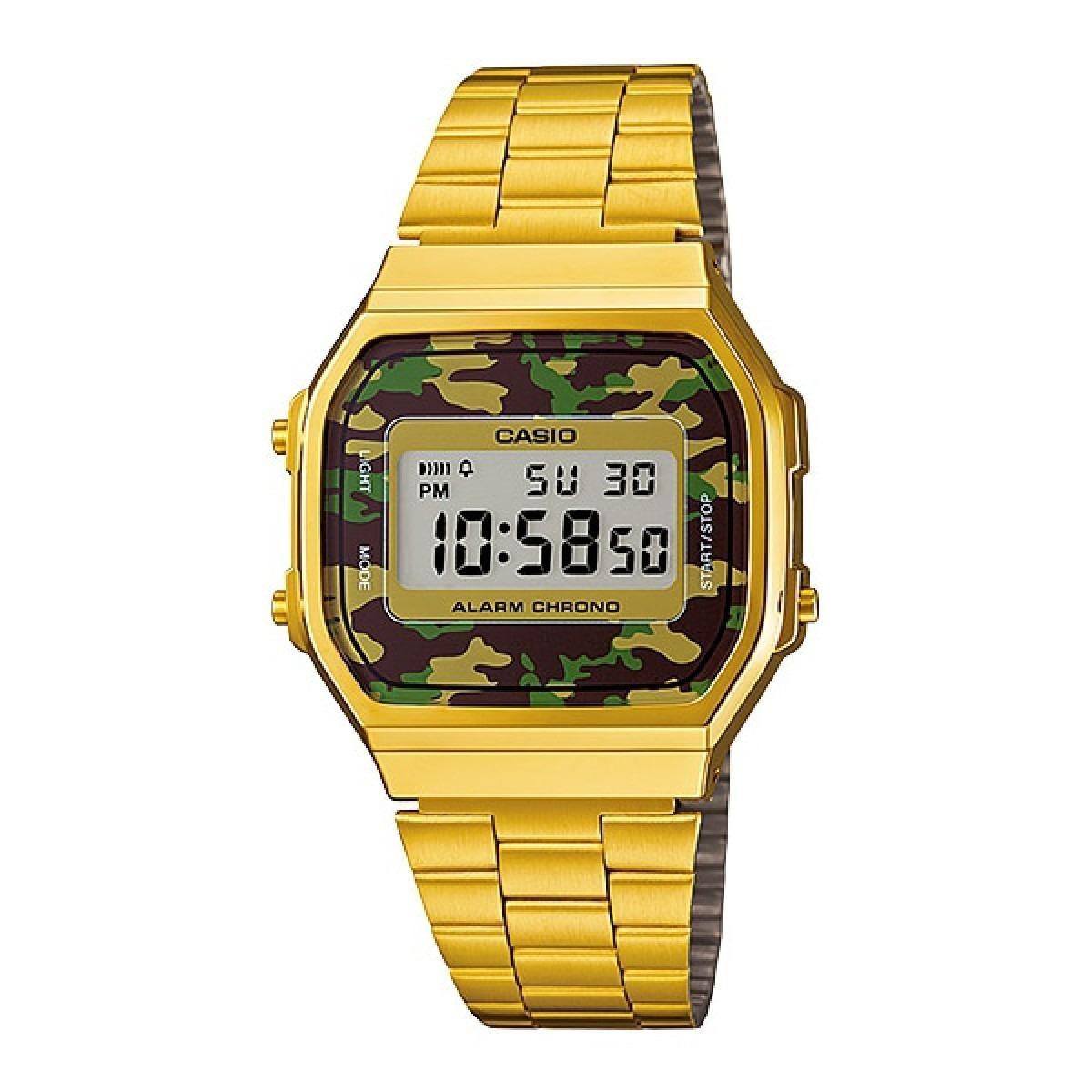 8707a632136 relógio casio a168 vintage dourado a168wegc-3df original. Carregando zoom.