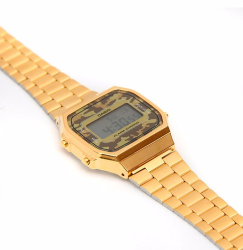 relógio casio a168 vintage dourado a168wegc-3df original