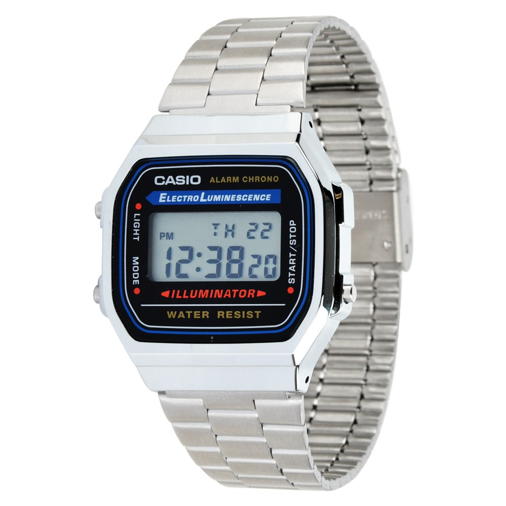 5db250a2460 Relógio Casio A168 Wa-1 Cronômetro Alarme Dual Time Wr Prata - R  199