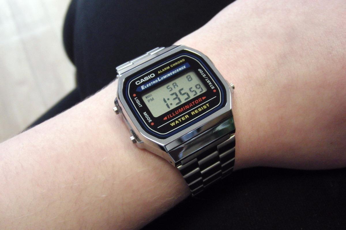 2981e1c8ddabd relógio casio a168wa1wdf prata unisex retro vintage original. Carregando  zoom.