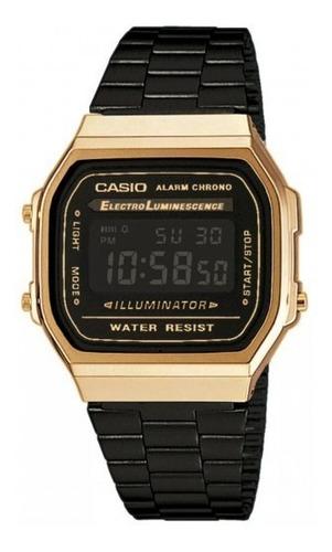 relógio casio a168wegb1bdf gold black preto dourado original