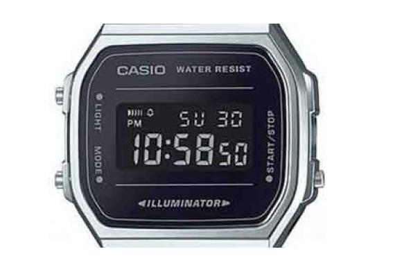 d1f52c79973 Relogio Casio A168wem-1 Vintage A168 Retro Prata Espelhado - R  357 ...