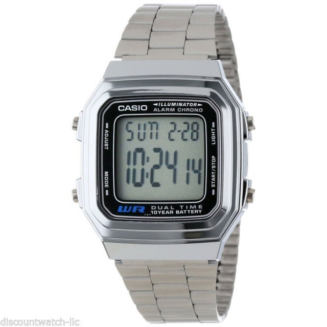 47aab2e8c59 Relógio Casio A178wa-1adf Data Bank Prata Original - R  120