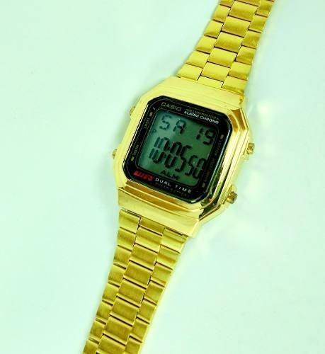 9cb642f0b2a Relogio Casio A178wg-1a Dourado Retrô Vintage Gold Promoção - R  14 ...