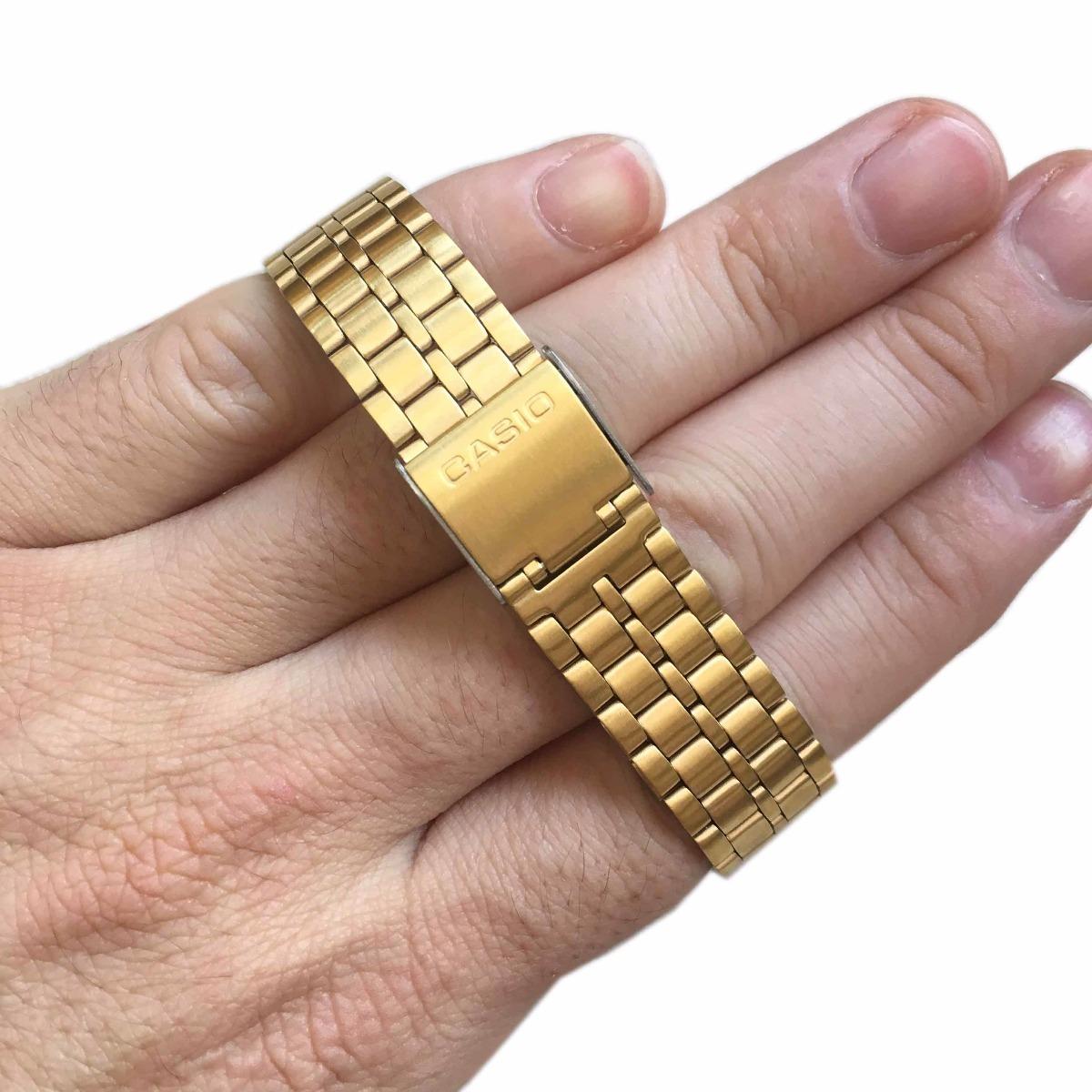 b53e98d490d relogio casio a500 dourado unissex c  caixa original. Carregando zoom.