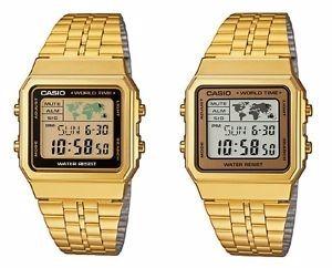 c2ac81cf4f6 Relogio Casio A500 Dourado Unissex C  Caixa Original - R  225