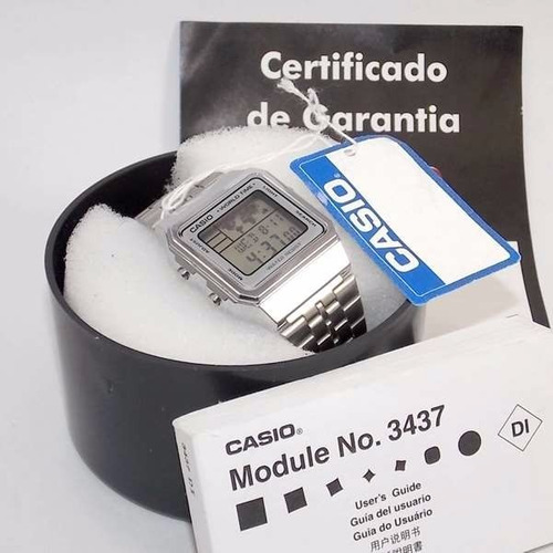 9e2715acf4e Relogio Casio A500wa World Time - Original 1ano De Garantia - R  214 ...