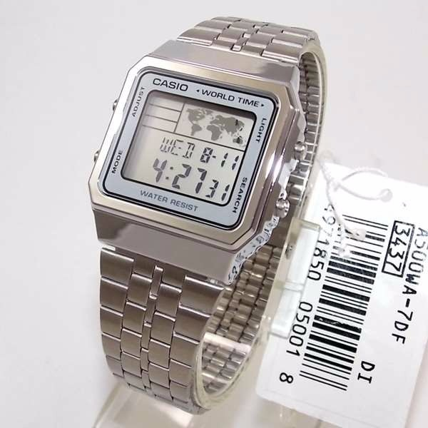b6288a3e7be Relogio Casio A500wa World Time - Original 1ano De Garantia - R  214 ...