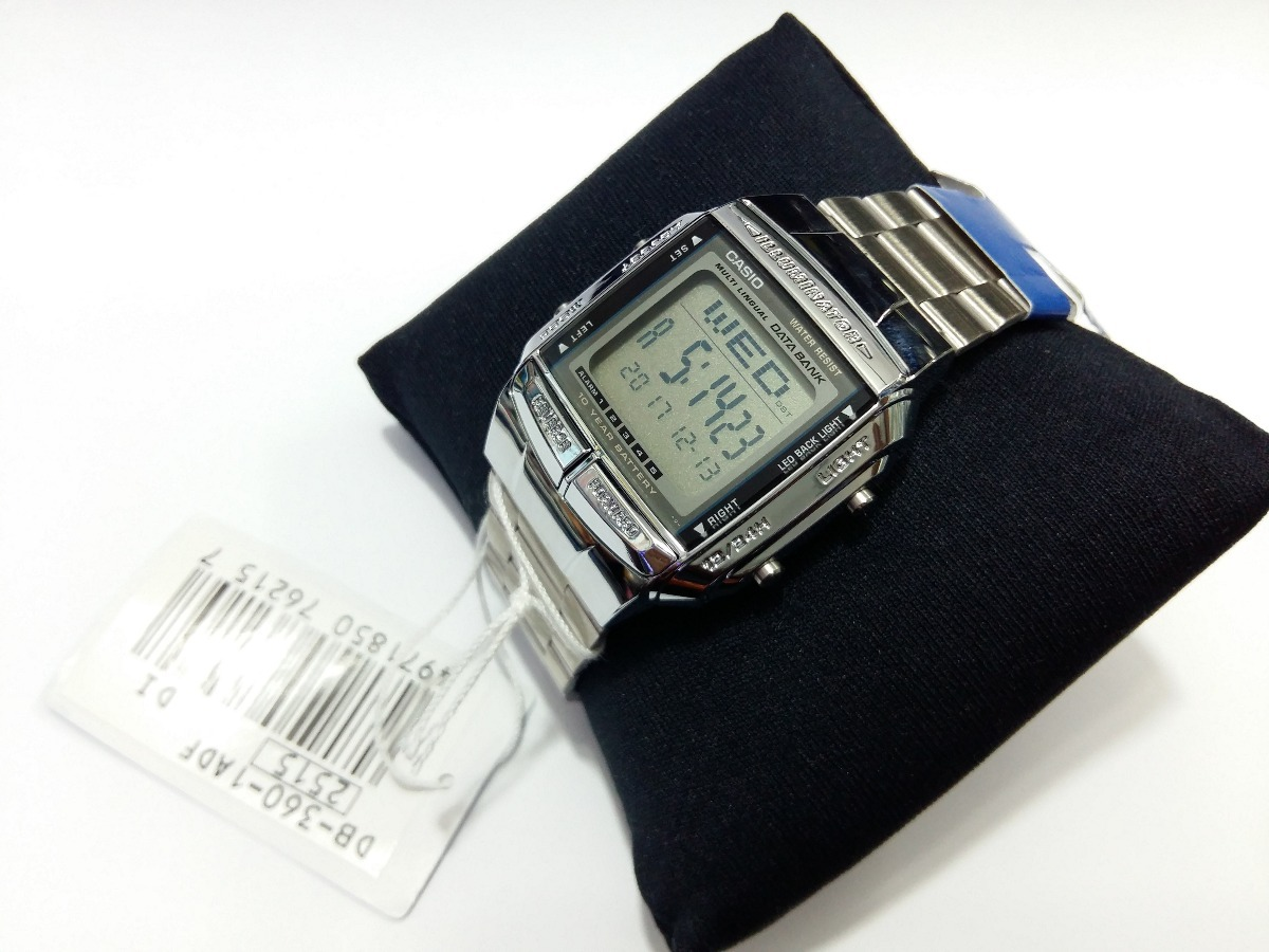 63d82390ced Relogio Casio Databank. Relógio Casio Aço Db 360 5 Alarmes Original Mais  Caixa - R  190