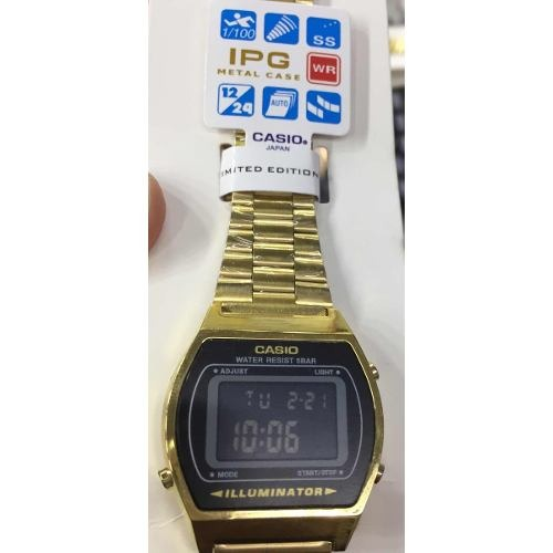 2807a0dbafb Relógio Casio Aço Inoxidável Dourado B640w + Caixa - R  64