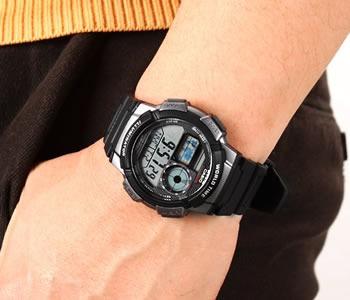 9556ff9a2ff Relogio Casio Ae-1000 W-1b Horario Mundial 5 Alarmes Wr-100 - R  199 ...