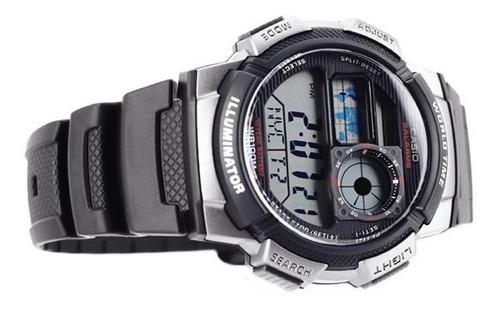 relogio casio ae-1000 w-1b horario mundial 5 alarmes wr-100