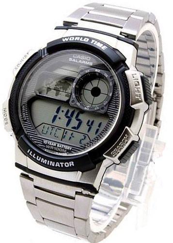 relógio casio ae-1000 wd ae-1200 whd horario mundial