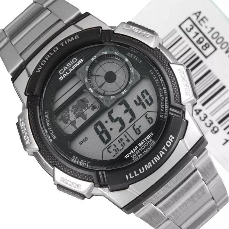2e0e25329ea Relógio Casio Ae-1000 Wd Ae-1200 Whd Horario Mundial Ae1000 - R  169 ...