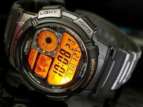 99d5113069c Relogio Casio Ae-1000w-1a Mapa Preto H.mundi-cron. 5 Alarmes - R ...