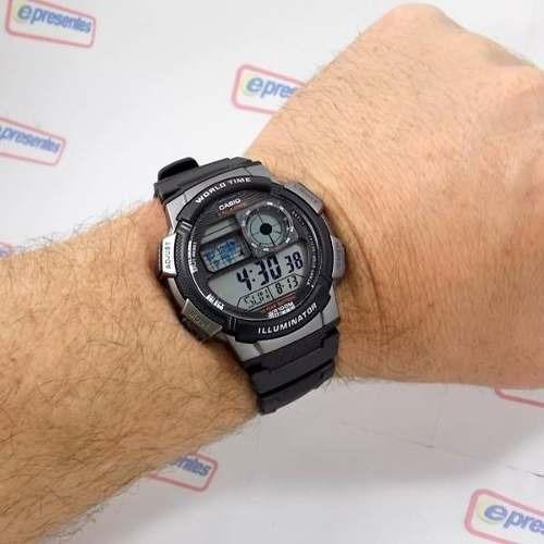 e1c1a45aa7a Relogio Casio Ae-1000w-1b H.mundi Cron Timer 5 Alarmes - R  139