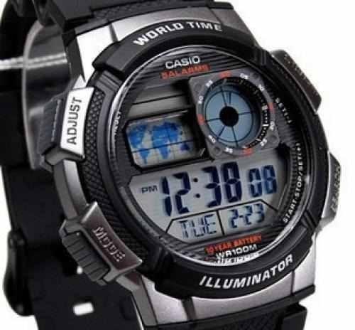 6922dca590d Relogio Casio Ae-1000w-1b H.mundi Cron Timer 5 Alarmes - R  139