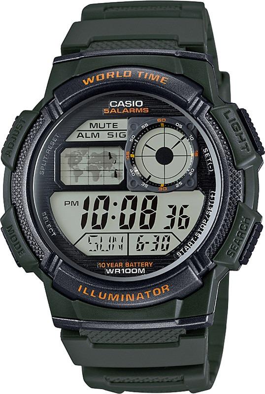 e0752c1c6cd relogio casio ae-1000w 3a verde h.mundi-cron. 5 alarmes. Carregando zoom.