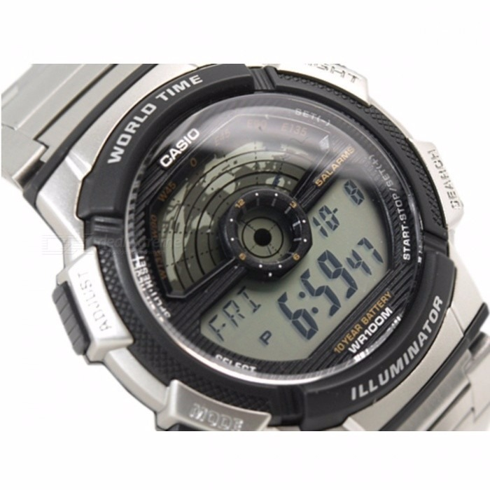 d5f858024d0 Relogio Casio Ae-1100wd Aço Hora Mund Timer 5 Alarmes Ae1000 - R ...