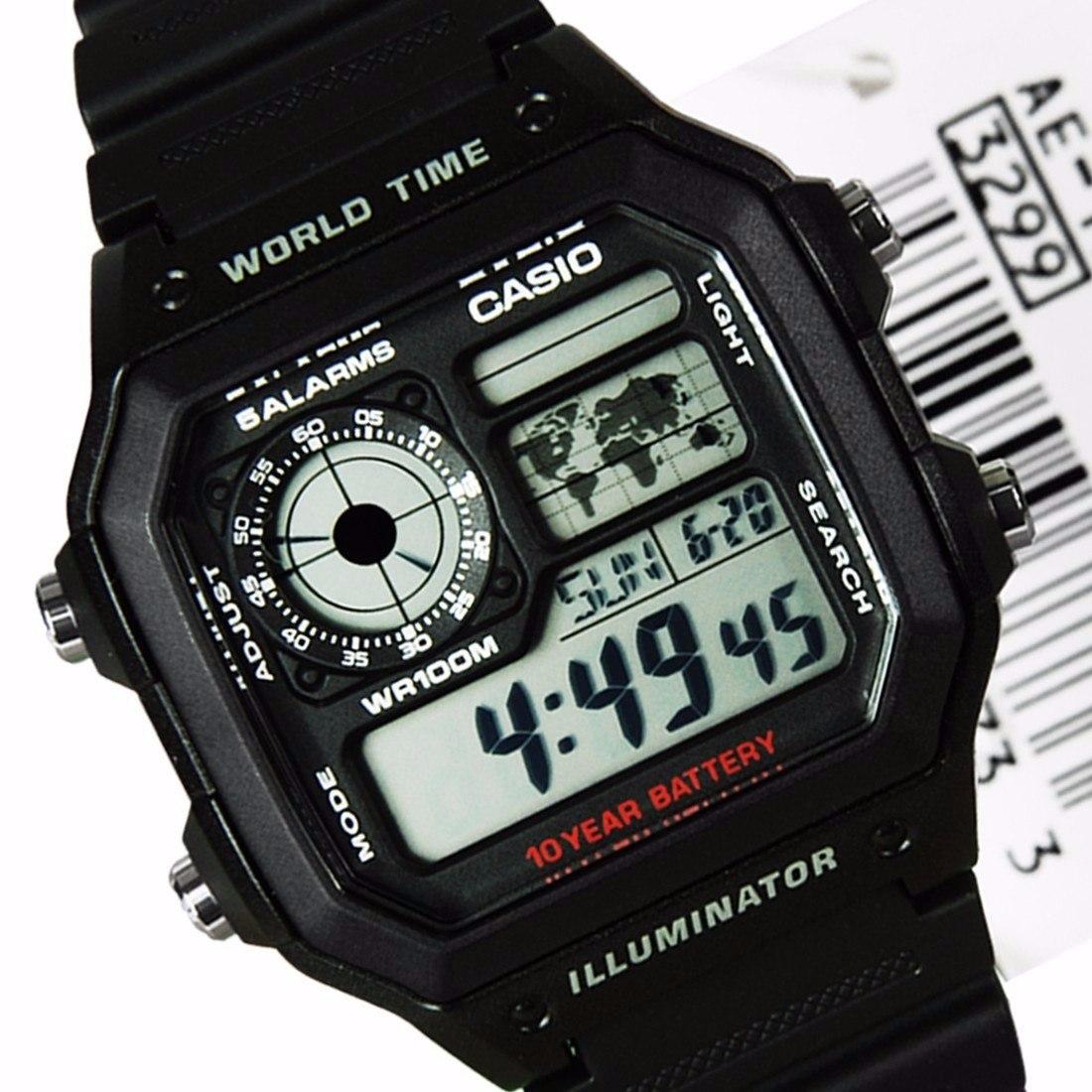 454513dc447 relogio casio ae-1200 wh 1a horario mundial 5 alarmes 100m. Carregando zoom.