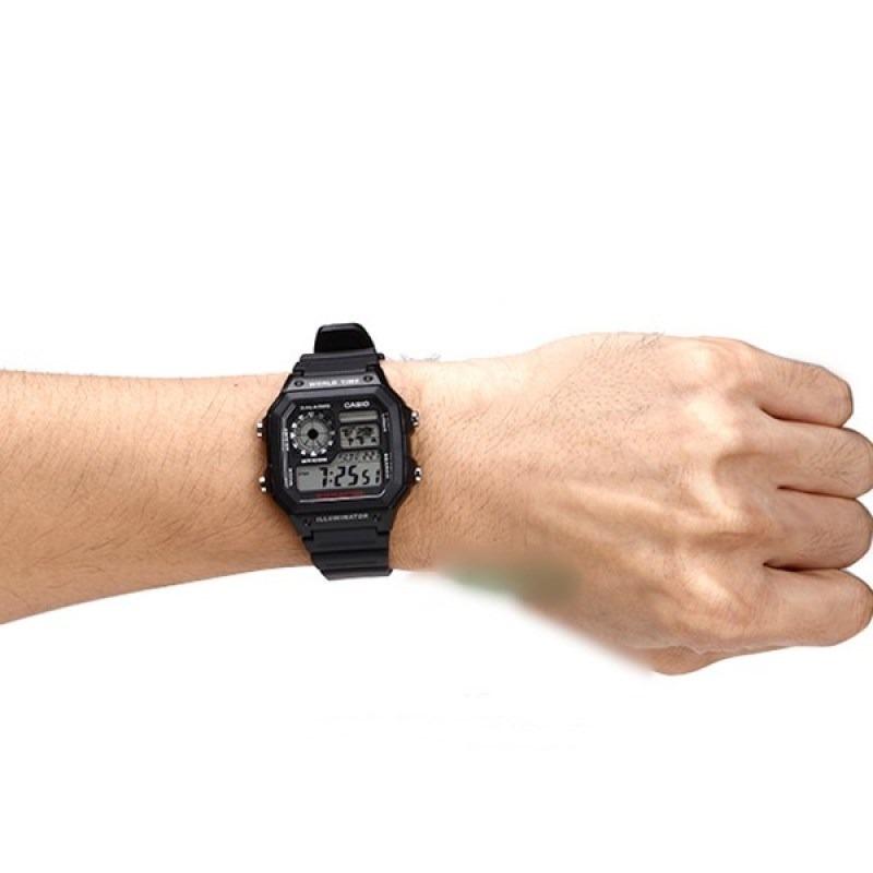 951d0048250 relogio casio ae-1200 wh 1a horario mundial 5 alarmes wr100m. Carregando  zoom.