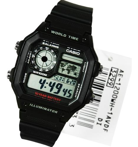 relógio casio - ae-1200wh-1avdf - bateria de 10 anos