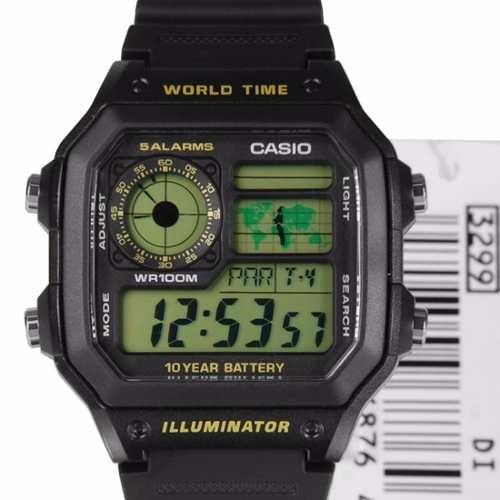 477c90bd6b3 Relogio Casio Ae-1200wh-1bv Horario Mundial 5 Alarmes 100m - R  120 ...