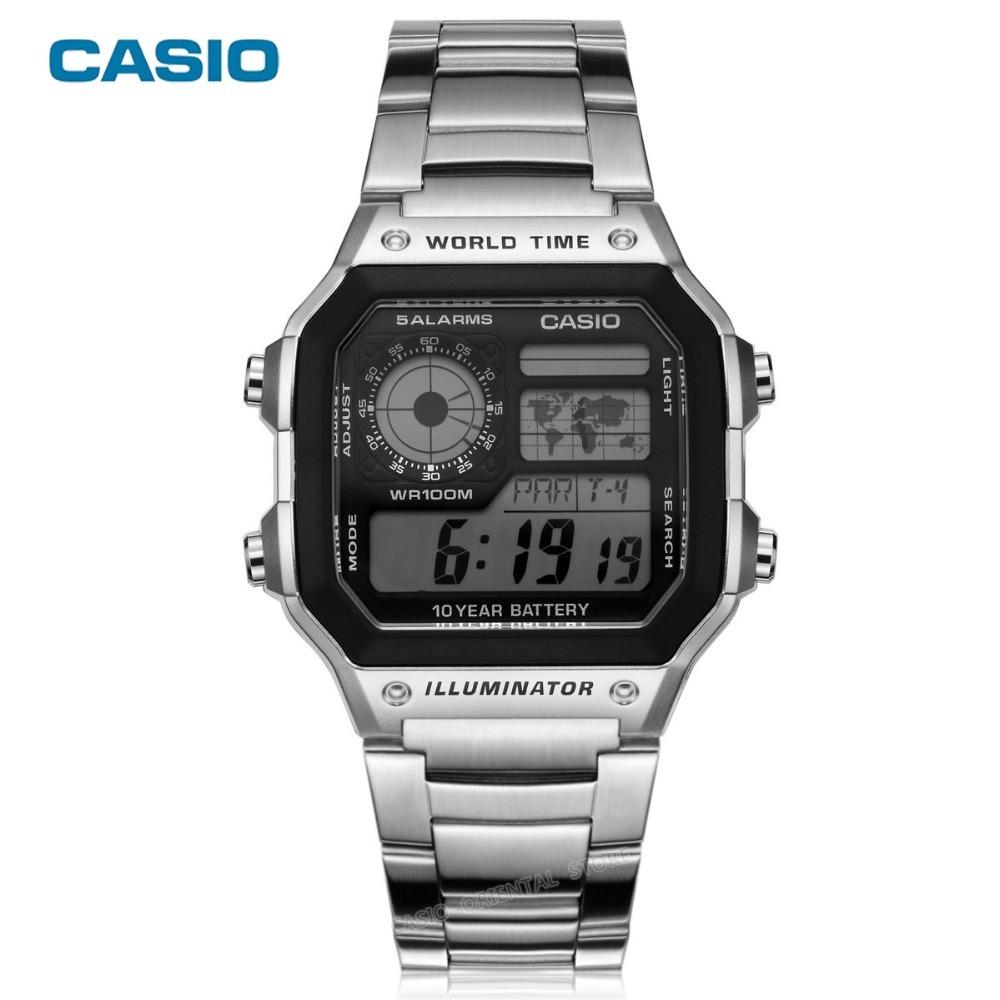 e296e0bae2d Relogio Casio Ae 1200whd-1av Horario Mundial 5 Alarmes - R  198