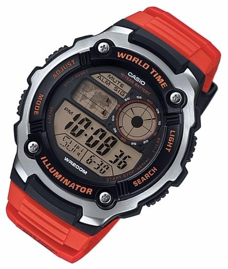 c1b58dbd4cb Relógio Casio Ae-2100 W-4a 5 Alarmes Horário Mundial Wr-200m - R ...