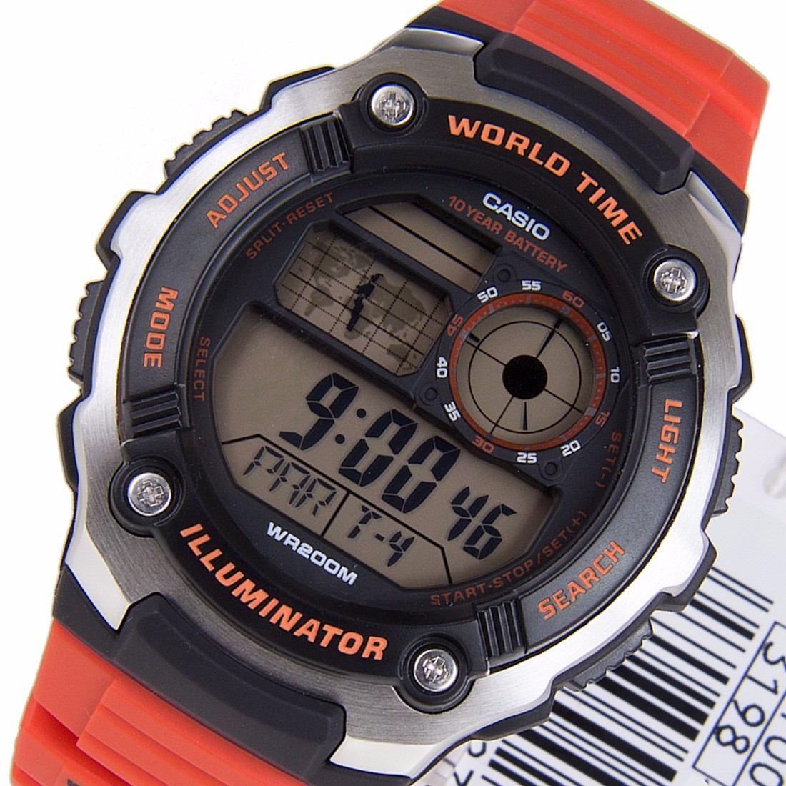 1524ff8e5b8 relógio casio ae-2100 w-4a 5 alarmes horário mundial wr-200m. Carregando  zoom.