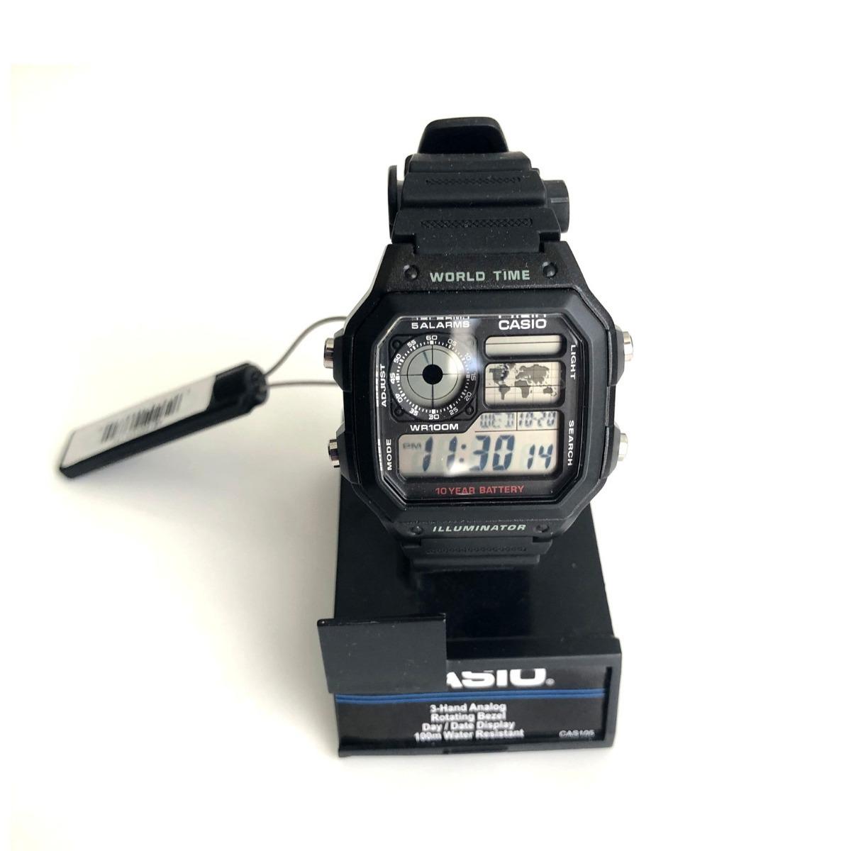 10b657d9c27 relógio casio ae1200 world time modelo original lacrado novo. Carregando  zoom.