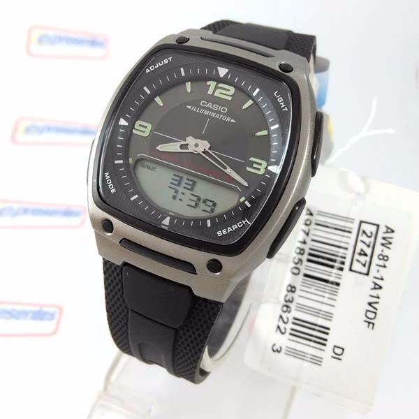 a6271294f78 Relogio Casio Ana Digi Bateria 10anos - 100% Original Aw-81 - R  194